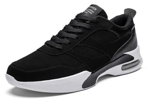 Student Mens Sports Running Shoes Joker Trend - BLACK EU 39