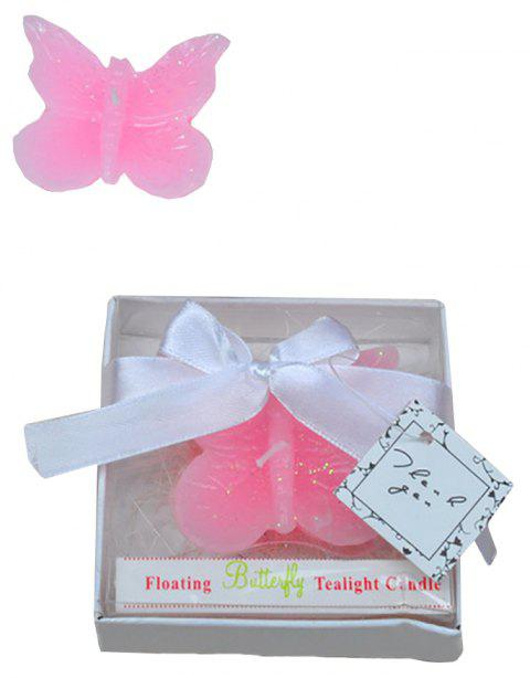 Creative Gift Pink Butterfly Rose Candle The Atmosphere Is Decorated - PINK 8.5*8.5*2.4CM