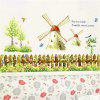 Home Decor Windmill Tower Girl PVC Wall Poster - multicolor A 60*90*0.1CM