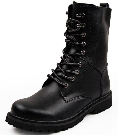 Men High Bangs Outdoor Desert Special Operations Boots - BLACK EU 44