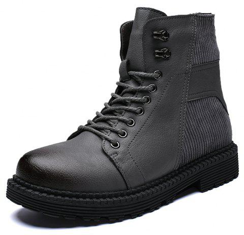 Men'S High-Top Warm Wear-Resistant Tooling Boots - GRAY EU 40
