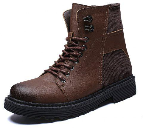 Men'S High-Top Warm Wear-Resistant Tooling Boots - DEEP COFFEE EU 46