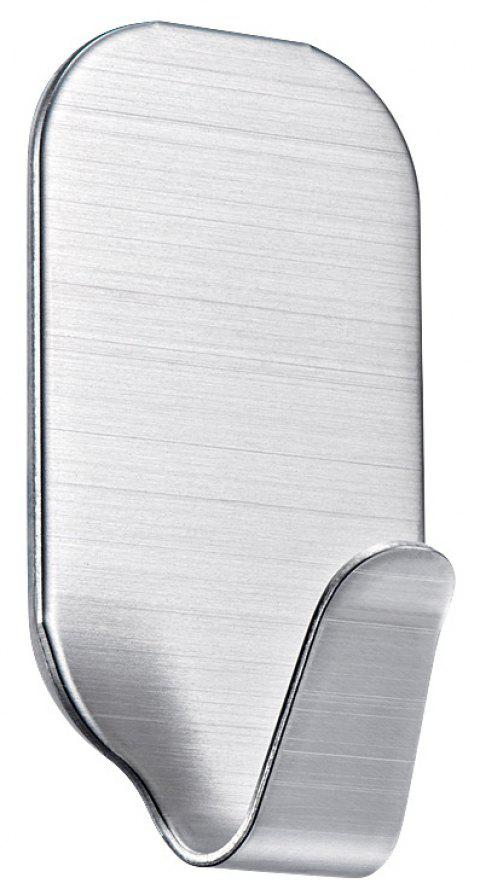Nail Free Stainless Steel Glue Hook - SILVER