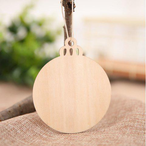 10PCS/PACK Christmas Wooden Pendants Ornaments DIY Christmas Party - multicolor J 9*7.5