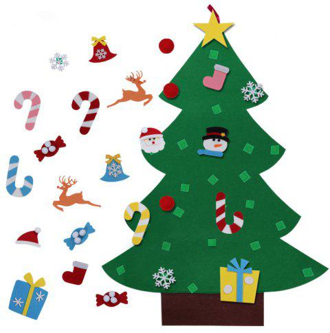 DIY Felt Christmas Tree with Ornaments Children Christmas Gifts - multicolor A 95*70CM