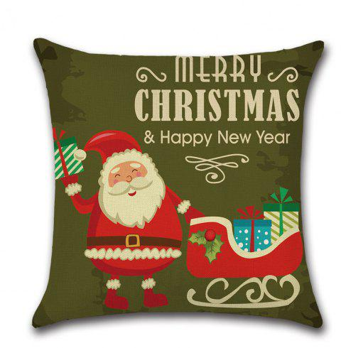 Printing Pillow Case Sofa Cushion Christmas Pillow Bedroom Living Room Decor - multicolor A 45CM*45CM