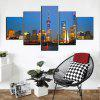 5 Pcs HD Inkjet Paints Night View Shanghai World Pearl Decorative Painting - multicolor 1PC X 12 X 31,2PCS X 12 X 16,2PCS X 12 X 24 INCH(