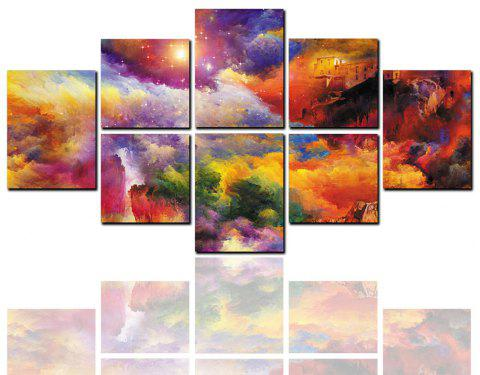 8 Pcs HD Inkjet Paints Abstract Colorful Mountain Landscape Decorative Painting - multicolor 20CM*20CM*4PCS+20CM*25CM*2PCS+20CM*30CM*2PCS