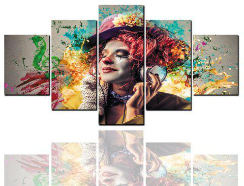 5 Pcs HD Inkjet Paints Abstract Beauty Character Decorative Painting - multicolor 1PC X 8 X 20,2PCS X 8 X 12,2PCS X 8 X 16 INCH( NO