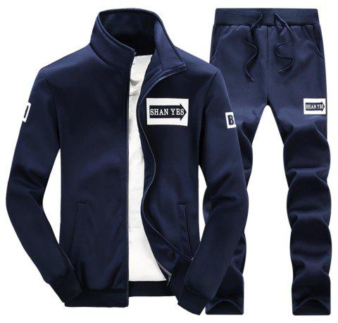 Spring and Autumn Men'S Sports Set D75 - CADETBLUE L