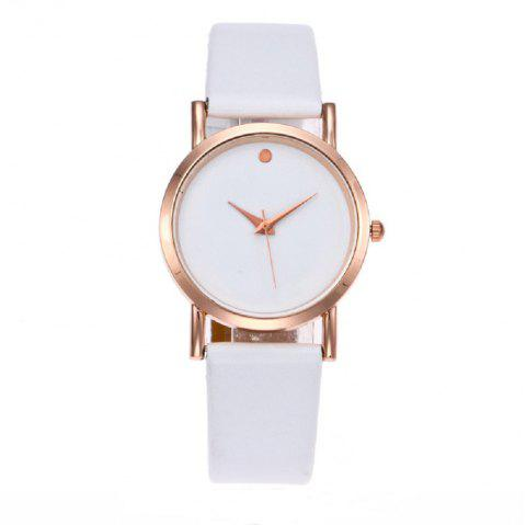 Fashion Single Point Simple Exquisite Small Belt Watch - WHITE REGULAR