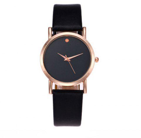 Fashion Single Point Simple Exquisite Small Belt Watch - BLACK REGULAR