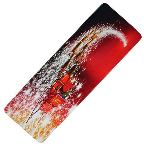 Christmas Long Floor Mat Decoration Kitchen Absorbent Anti-Slip Mat - ROSSO RED 1PC