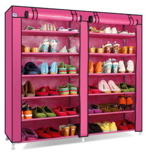 Multi Layer Dust Proof Modern Simple Non-Woven Simple Shoe Rack - ROSE RED 1PC