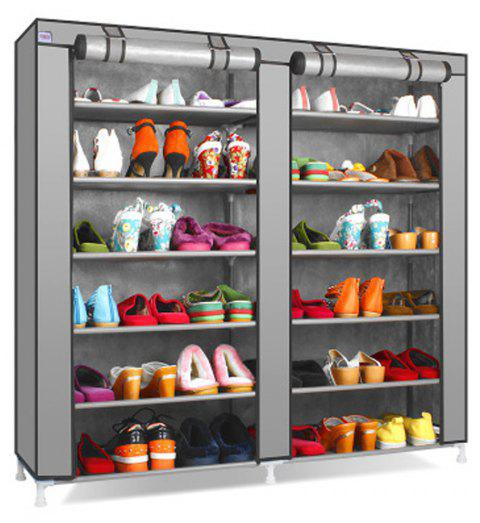Multi Layer Dust Proof Modern Simple Non-Woven Simple Shoe Rack - LIGHT GRAY 1PC