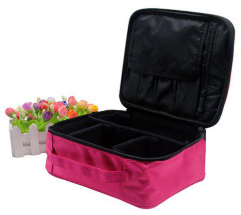 Fashionable Lady Cosmetics Box Convenient Travel Box - ROSE RED 1PC