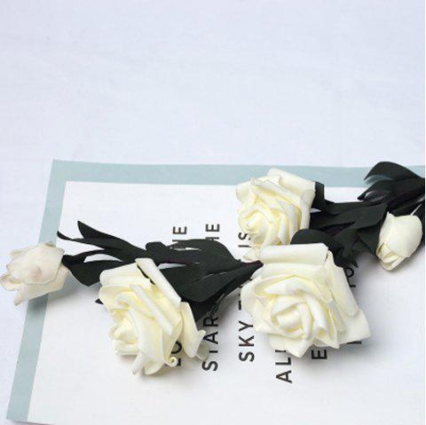 Flower Home Decoration Wedding Hand FlowerArtificial Flower - WHITE 1PC