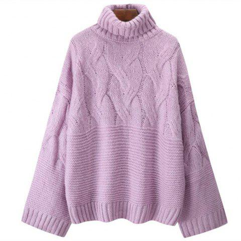 Women's Long Sleeved Sweater - MAUVE ONE SIZE