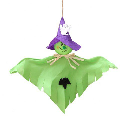 YEDUO Ghost Hanging Hangtag Halloween Decoration Kids Funny Joking Toys - GREEN APPLE