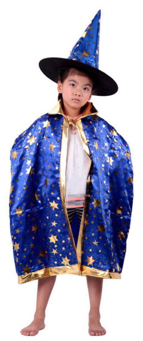 yeduo children halloween wizard witch cloak cape robe hat cap party costume ocean blue