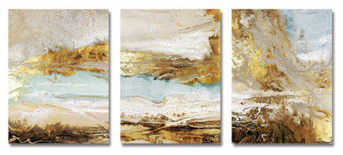 DYC 3PCS Gold Abstraction Print Art - multicolor