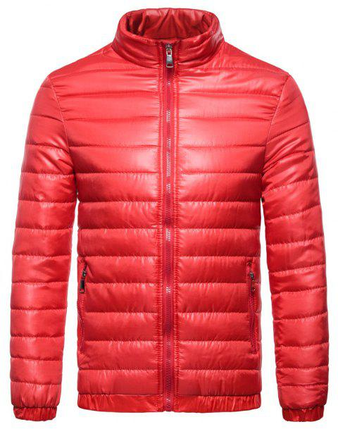 Man Coat Single Color Leisure Time - RED M