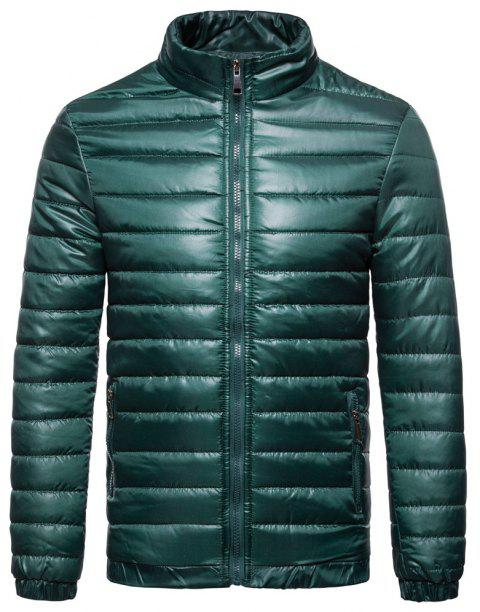 Man Coat Single Color Leisure Time - JUNGLE GREEN XL