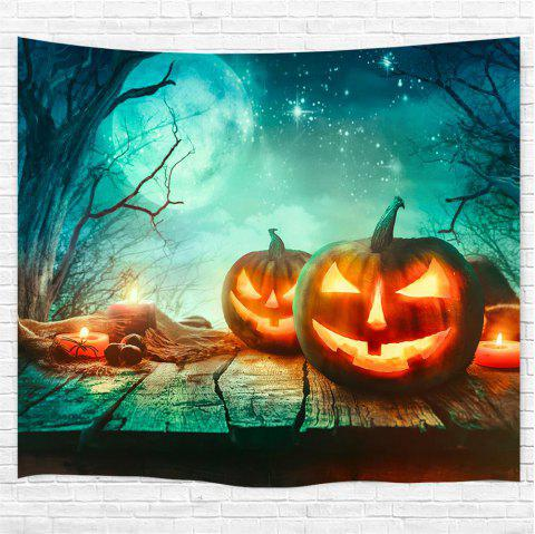 Dead Tree Starlight Pumpkin Printing Home Wall Hanging Tapestry for Decoration - multicolor W153CMXL130CM