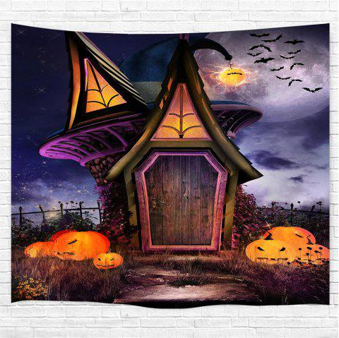 Fairy Tale Pumpkin House 3D Printing Home Wall Hanging Tapestry for Decoration - multicolor W200CMXL180CM