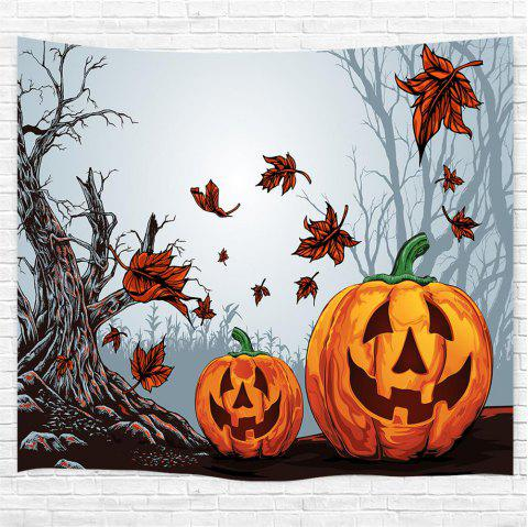 Dead Tree Red Leaf Pumpkin 3D impression maison tapisserie murale pour la décoration - multicolor W153CMXL130CM