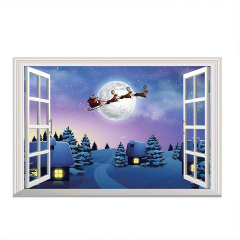 3D Christmas Removable Wall stickers DIY Sticker Paper - multicolor J