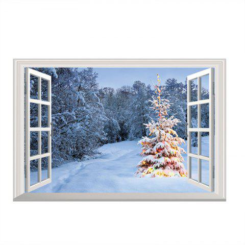3D Christmas Removable Wall stickers DIY Sticker Paper - multicolor D