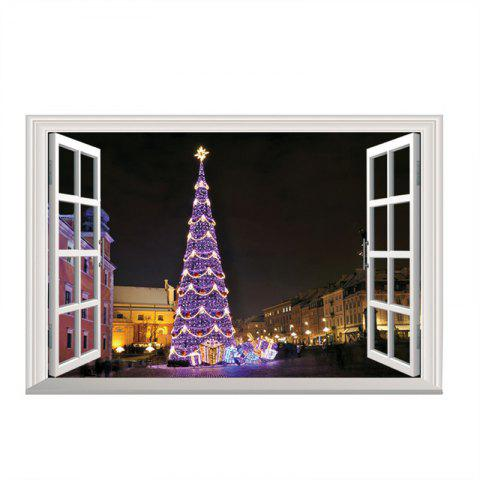 3D Christmas Removable Wall stickers DIY Sticker Paper - multicolor F
