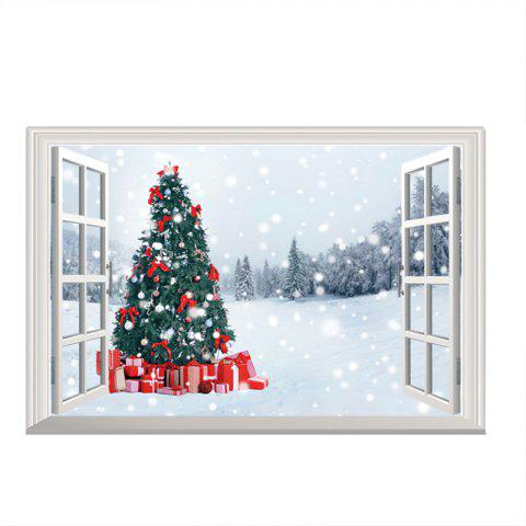 3D Christmas Removable Wall stickers DIY Sticker Paper - multicolor I