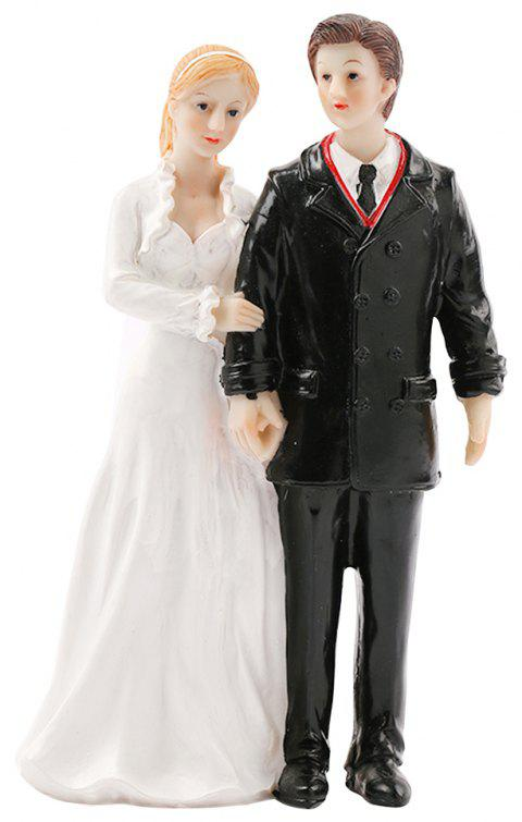 Winter Love Song Groom Bride Cake Topper Ornaments Decoration - WHITE