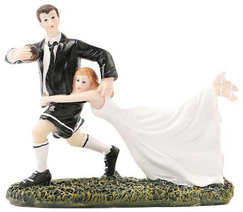 Rugby Love Cake Topper Ornaments Decoration - WHITE