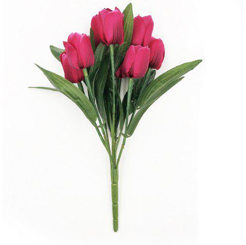 Luxury Silk Tulip Home Decoration Branch of Artificial Flowers - TULIP PINK