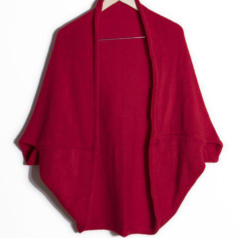 Loose Edition Long Female Shawl - RED