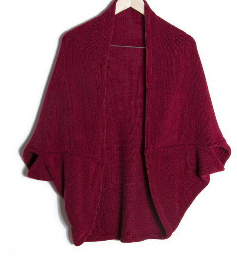 Loose Edition Long Female Shawl - RED WINE