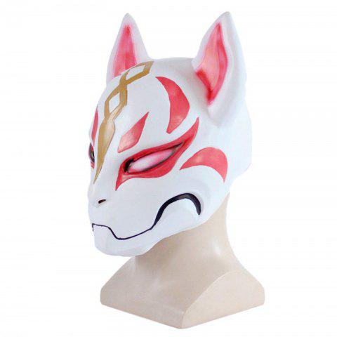 Cosplay Fox Latex Matériel Masque Halloween Prom Party Costume Plein Visage Headgear - multicolor