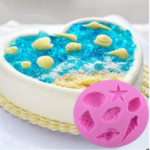 Pink Silicone Ocean Shell Cake Fondant - PINK
