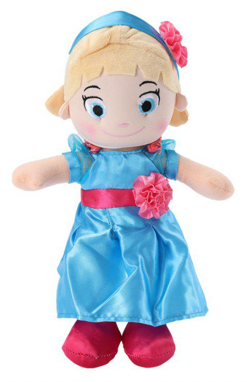 Plush Toys 12INCH Girl Doll Super Soft Stuffed Toy ( Blue ) - DODGER BLUE