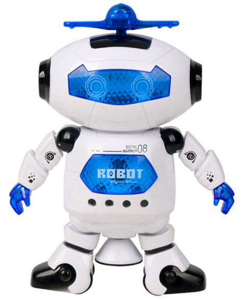 Electric Space Intelligent Multicolor Shine Cool Dancing Robot Toy - WHITE
