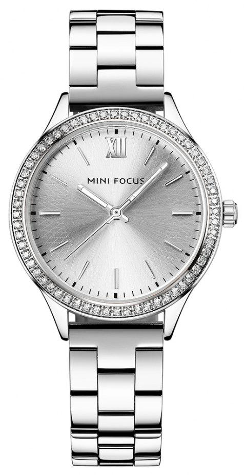 MINI FOCUS Women Luxury Fashion Casual Ladies Watches Simple Female Clock - SILVER