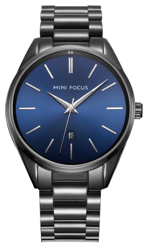 MINI FOCUS Brand Fashion Casual Men's Business Quartz Watch Watchcase Stainless - BLUE