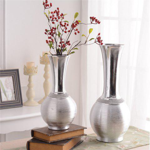 European Style Home Decorations Ceramic Electroplating Vase Table Display - SILVER M