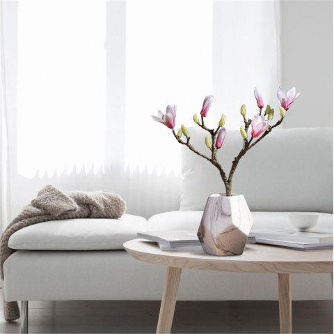 Modern Style Marble Pattern Ceramic Vase Home Fashion Table Display - multicolor A M