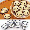 Panda Cookie Cutters Birthday Party Kitchen Baking Tools Cartoon 3D Biscuit Mold - multicolor A
