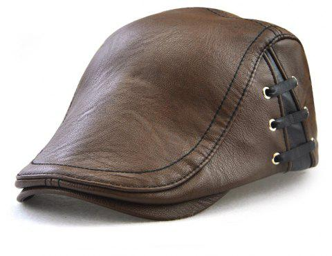 JAMONT Men's Personalized Perforated Strap Designed Out of Joker Beret - COFFEE
