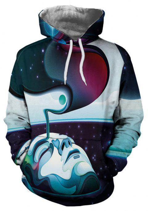 Personality Men's 3D Printed Autumn Hoodie - multicolor F S